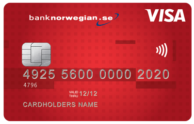 Credit Card from Bank Norwegian - best credit card in denmark